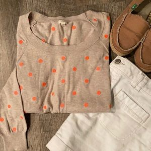 -J. Crew crew neck sweater with embroidered…
